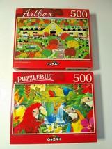 Horse Lovers and Parrot Paradise Animals Birds Jigsaw Puzzles 500 pcs Ne... - $15.84