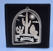 Phoenix Arizona Brass Ornament Black Leatherette Gift Box by I Love My S... - $13.95