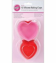 Heart Silicone Baking Cups 12/Pkg. 415-9409 Wilton - $4.99