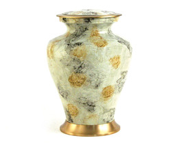 Large Funeral Cremation Urn for ashes, 200 Cubic Inches - Glenwood White... - $154.99