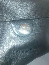 Giani Bernini Pebbled Genuine Black Leather Handbag Quilted Sides Crossbody Bag image 3