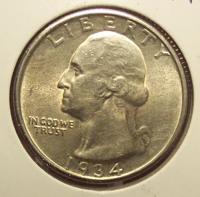 1934 Silver Washington Quarter MS63  #915