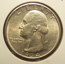 1934 Silver Washington Quarter MS63  #915 - $39.99