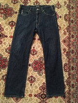 ARMANI Men's Aj Armani Jeans Dark Wash J31 Regular Fit Jeans Size 32 X 30 - $37.16