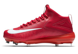 Nike MIKE TROUT 3 Pro Crimson Red Metal Baseball Cleats 856503 667 Men's 11 - $44.95