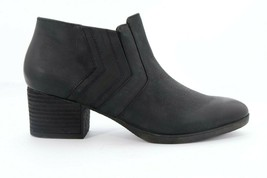 Abeo Felicity Booties Nubuck Black Women's Size US 7 Neutral Footbed () 4873 - $65.00