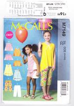 Pattern McCalls 7149 Girls Size 3 4 5 6 Tops Tunic Shorts Capris Easy, 2015 - $3.99