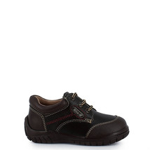 Boy's Rilo brown leather fashion sneakers walker toddler youth  - $38.98