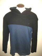 Vans Mens Split Blox 2 Tone pullover hoodie Sweatshirt Blue Black NWT Fr... - $29.99
