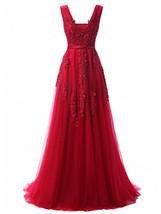 Women's Plunging V-Neck Lace Illusion Bridal Prom Evening Dress Burgundy,10