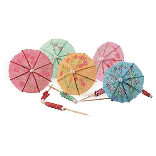 Primary image for East Majik Umbrella Cocktail Picks Cupcake Toppers 160 Packs - Assorted Colors