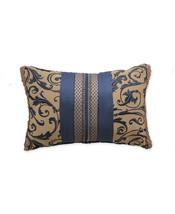 New Croscill Sebastian 19 x 13 Floral Scroll Decorative Throw Pillow Nav... - $29.39