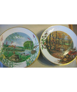SET OF 12 FRANKLIN PORCELAIN NATURE SCENES by PETER BANETT PLATE COLLECT... - $371.24