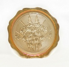 Vintage Round Iris Depression Glass Plate Serving Dish Platters - $18.81