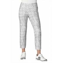 adidas Womens Ultimate 365 Adistar Printed Ankle Pants Grey Golf Trouser... - $37.04