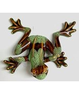 Golden Pond Collection Brown and Green Ceramic Frog Figurine (B) - $29.70