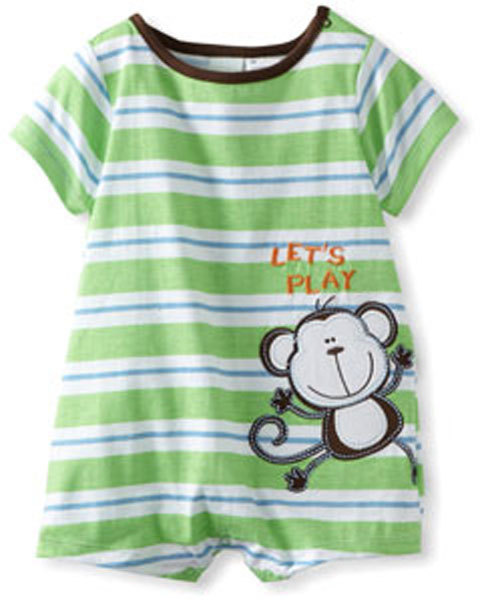 Baby Togs Baby Boys Infant Monkey Romper - $20.00