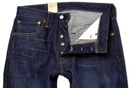 NEW LEVI'S 501 MEN'S ORIGINAL FIT STRAIGHT LEG JEANS BUTTON FLY BLUE 501-1332 image 2