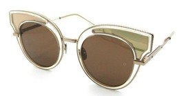 Bottega Veneta Sunglasses BV0094S 002 49-23-140 Yellow - Rose Gold / Bro... - $144.45