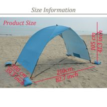 Tent Canopy Sun Shade Beach Shelter Awning UV Protection Fishing Portabl... - $40.99