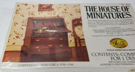 The House of Miniatures CHIPPENDALE DESK Circa 1750-1790 NEW in Box 1977 - $9.99