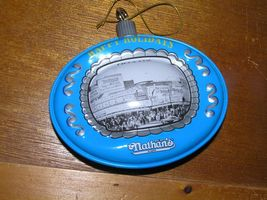 Vintage Reproduction Blue & Gray Tin Metal NATHAN'S in Chicago Christmas Tree image 3