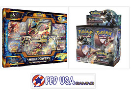 Mega Powers Collection + Sun & Moon Burning Shadows Booster Box POKEMON TCG - $174.99