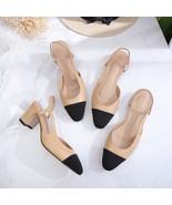 leather gladiator women sandals beige summer office shoes high heels bac... - $270.36