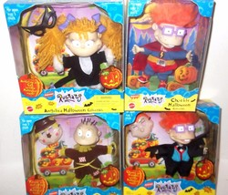 1998 Nickelodeon Rugrats Chuckie Angelica Tommy Halloween Figure Mattel LOT MISB - $55.99