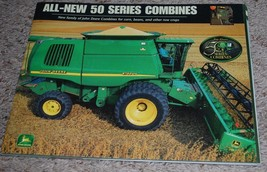 John Deere All-New 50 Series Combine Overview Pamphlet Specifications DK... - $14.80