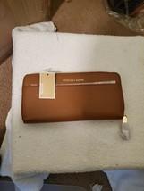 Michael Kors Women's Money Pieces Pocket Continental Leather Wallet Acorn - $84.15