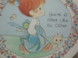 1992 precious moments collector's plate your a niece like no other  - $6.50