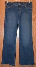 Girls Prefaded Medium Wash Faded Glory Boot Cut Jeans Size 8 excellent - $8.31