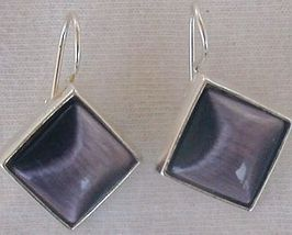 Purple square-2 earrings - $22.00