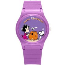 HAPPY HALLOWEEN SNOOPY& LUCY PLASTIC SPORTS WATCH UNIQUE - 6 COLORS NEW! - $25.99