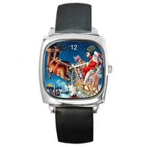 SANTA SLEIGH & REINDEER CHRISTMAS WATCH 9 OTHER STYLES CHARM, GOLD-TONE,... - $25.99