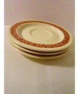 3 Saucers Anchor Hocking Ironstone Ginger Pattern - $5.99