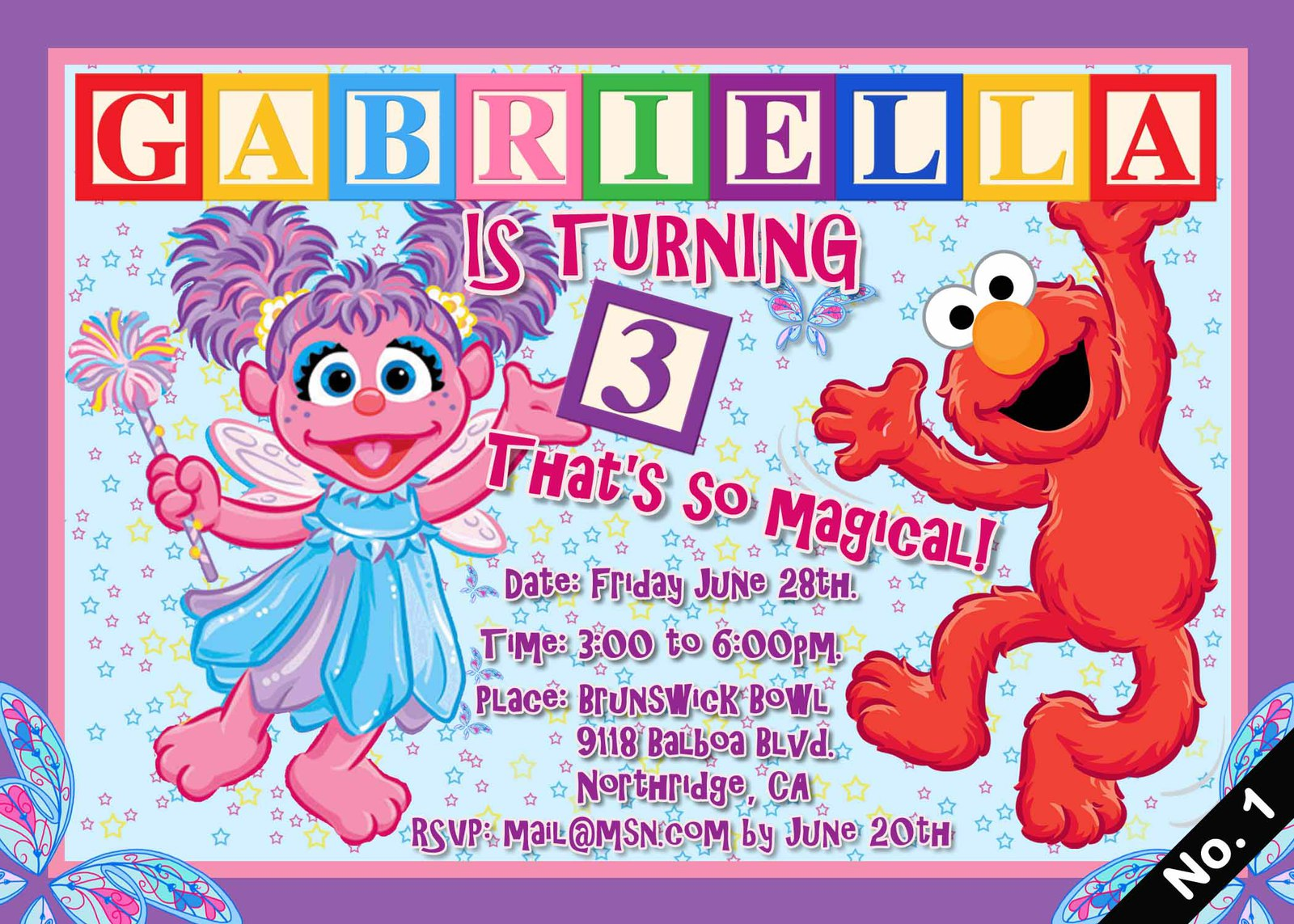 Abby Cadabby InvitationsDigital Jpeg File and 50 similar items – Abby Cadabby Birthday Invitations
