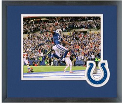T.Y. Hilton Indianapolis Colts 2013 Playoff -11x14 Team Logo Matted/Framed Photo - $43.95