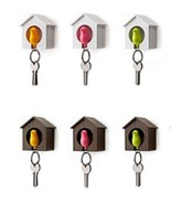Brown house Different Bird  New Whistle sparrow bird keychain key ring c... - $5.94
