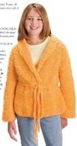 W574 Crochet PATTERN ONLY Sunshine in Winter Child Size Jacket Pattern - $7.50