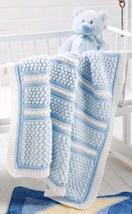W559 Crochet PATTERN ONLY Baby Bubble Wrap Blanket Afghan Pattern - $7.50