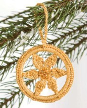 W555 Crochet PATTERN ONLY Sparkling Round Hoop Christmas Ornament Pattern - $7.50