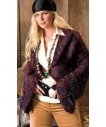 W567 Crochet PATTERN ONLY Bell-Sleeve Jacket & Color Block Hoodie Pattern - $7.50