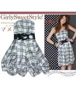 Plaid Convertible Tube Dress w/ Belt S - $11.40