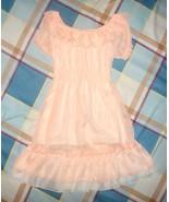 Off Shoulder Chiffon Dress S - $14.25