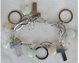 Quartz and silver crosses bracelet thumb155 crop