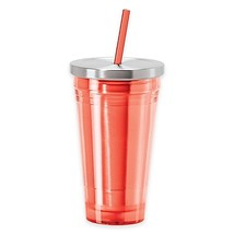 Oggi 16 oz. Acrylic Tumbler with Stainless Steel Liner and Acrylic Straw... - $12.99