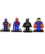 Super Heroes Superman Batman Captain America Minifigures Blocks Toy Set ... - $13.99