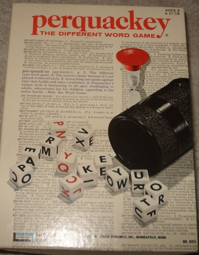 PERQUACKEY ~ THE DIFFERENT WORD GAME ~ VINTAGE 1970 COMPLETE !